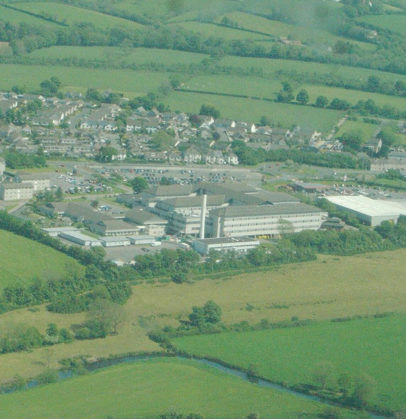 Aerial view of Withybush